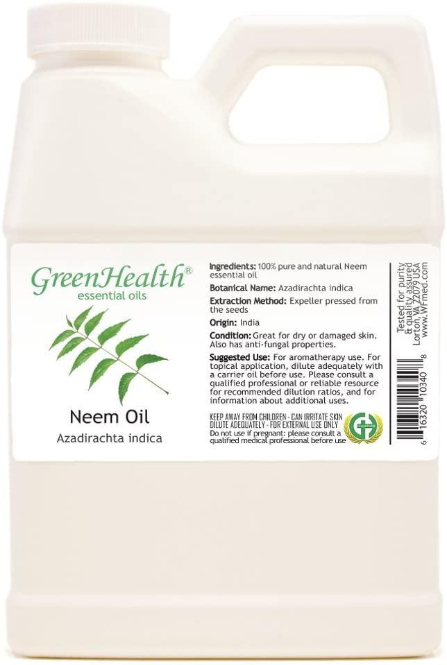 GreenHealth - Neem Oil 100% Pure Cold Pressed 16oz