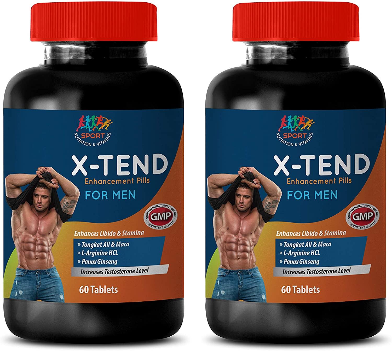 Male Testosterone Supplements USA Made - X-TEND - Enhancement Pills for Men - tribulus terrestris Complex for Men - 2 Bottles 120 Tablets