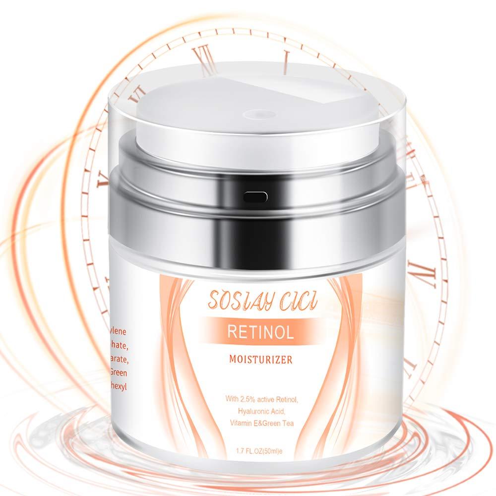 Retinol Cream Face Moisturizer with Active Retinol 2.5% and Vitamin E Vit C with Hyaluronic Acid and Vitamin E - Anti Wrinkle Anti Aging