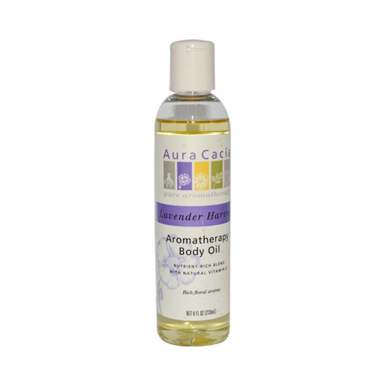 Aura Cacia Massage and Body Oil Lavender Harvest 8 oz