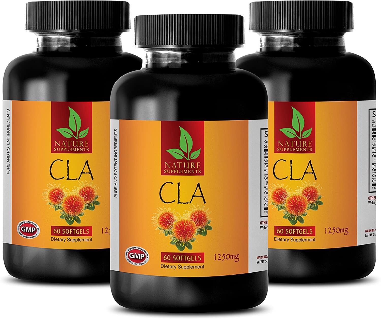 Fat Burners for Men Weight Loss Pills - CLA - CONJUGATED LINOLEIC Acid (Safflower Oil) - Conjugated linoleic Acid Weight Loss - 3 Bottles 270 Softgels