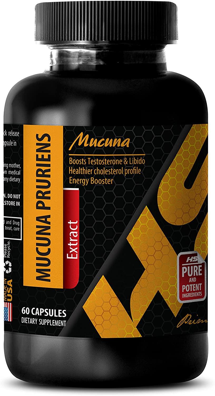 Mood Health Supplement - MUCUNA PRURIENS Extract - mucuna pruriens Extract Capsules - 1 Bottle 60 Capsules