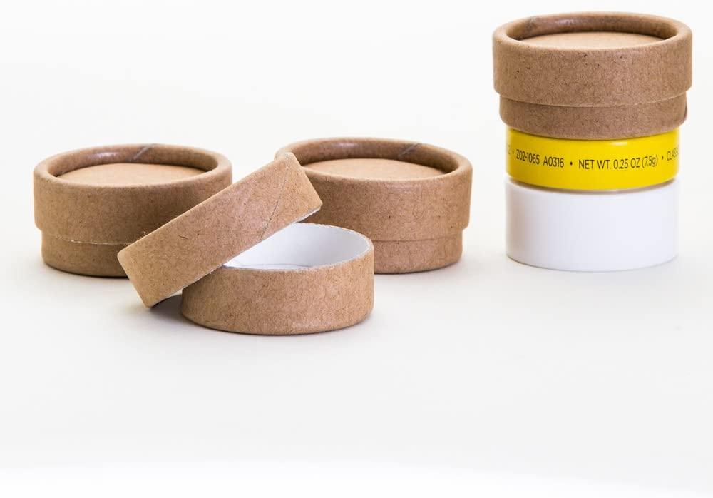 0.30 OZ / 10 mL Kraft Paperboard Lip Balm/Salve/Cosmetic/Lotion Jars x100