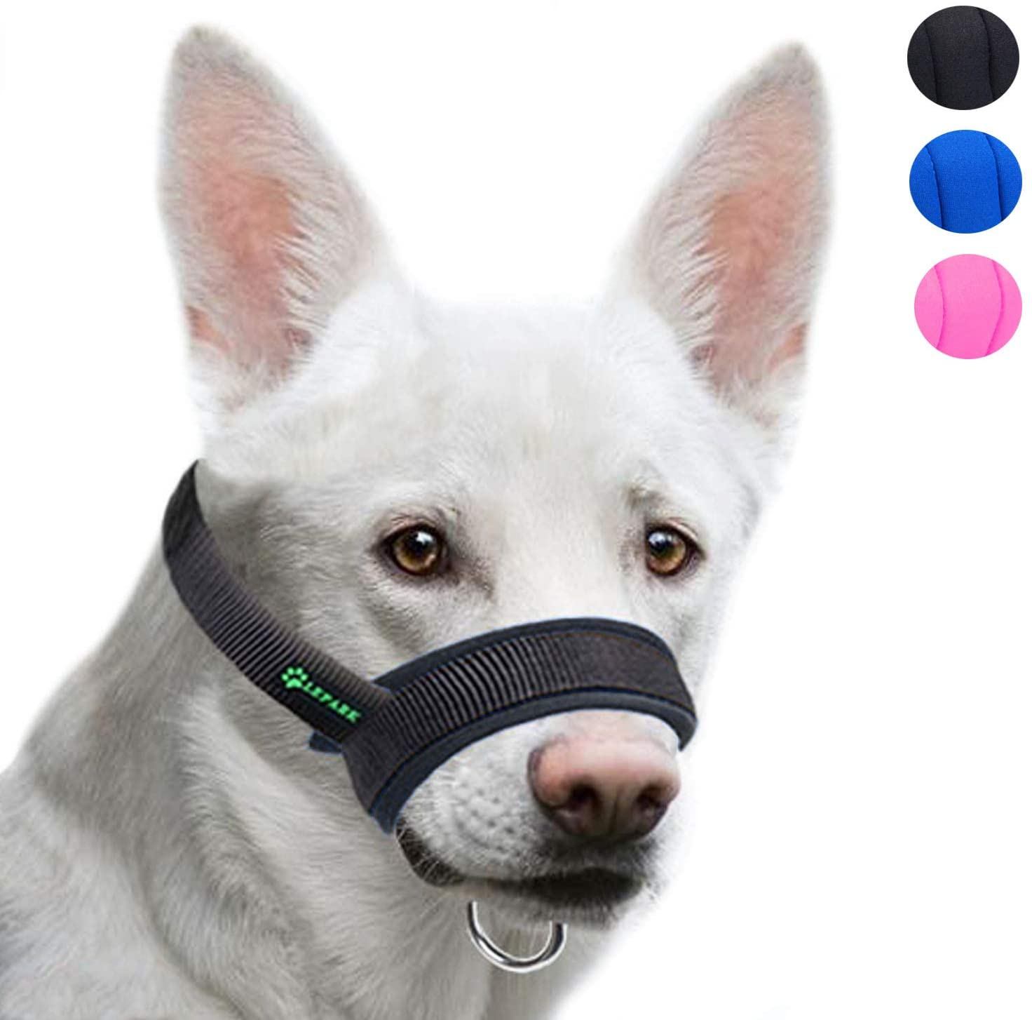 Lepark Dog Muzzle with Fabric for Small, Medium and Large Dogs, Anti Biting, Chewing, Adjustable Neck, Breathable