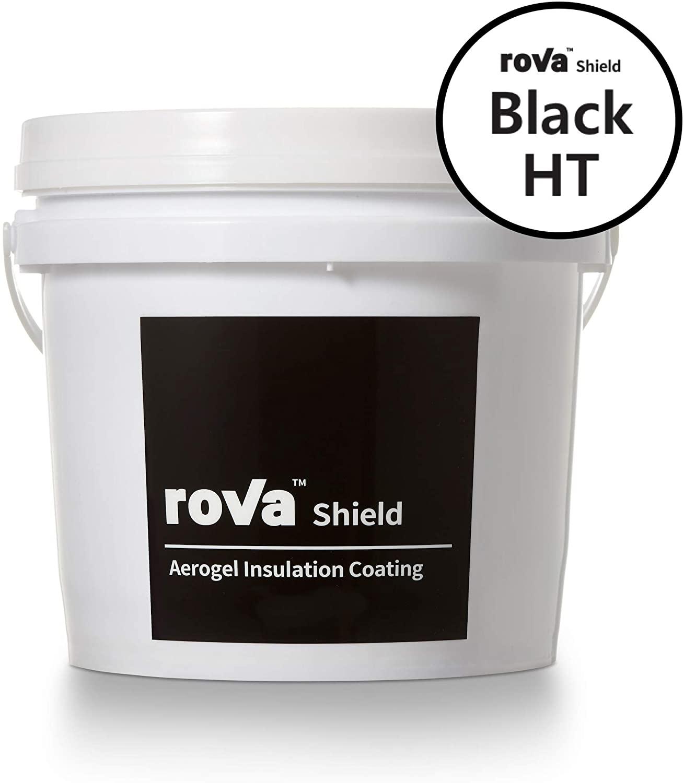 roVa Shield Aerogel Insulation Coating, Black HT 1 Gallon (4 Liters)