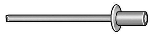 Blind Rivet, 3/16 Dia, 0.705 L, PK250
