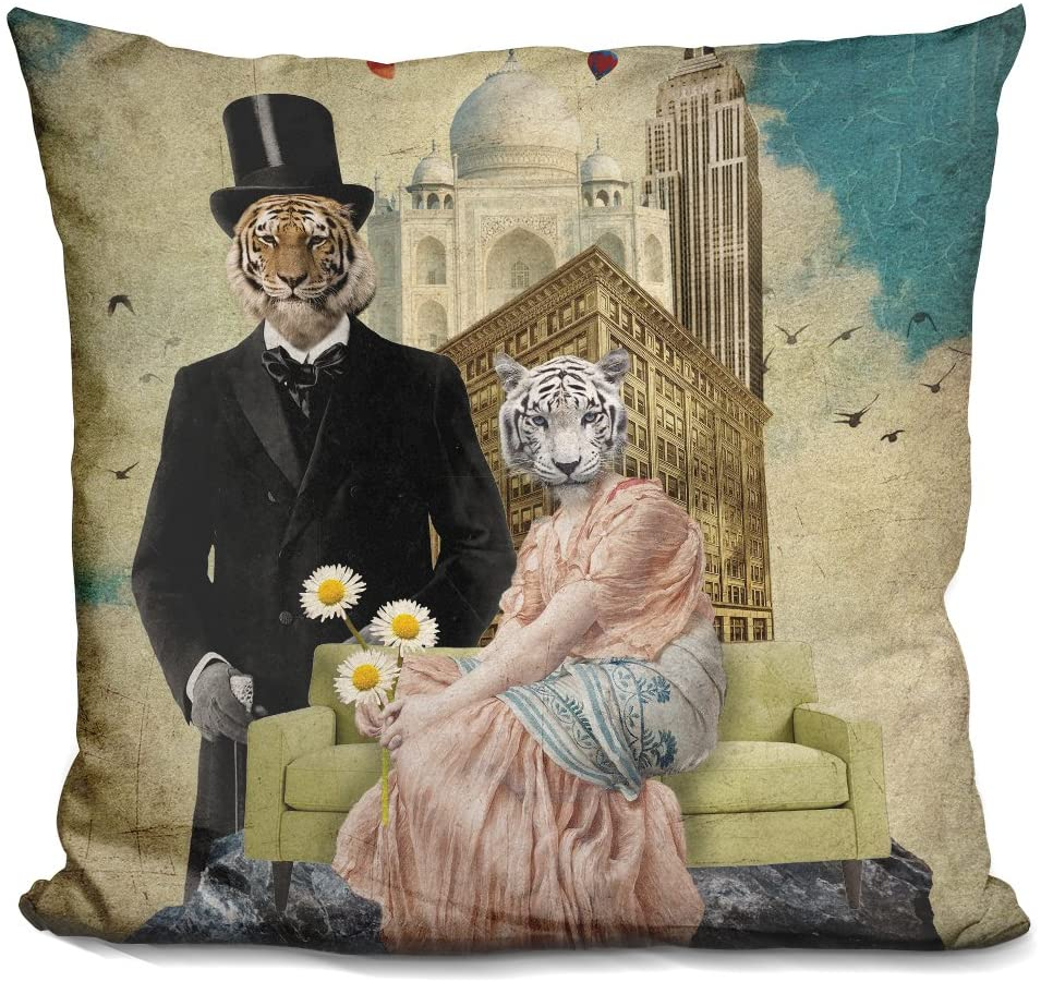 LiLiPi The Eyes of The Tiger Decorative Accent Throw Pillow