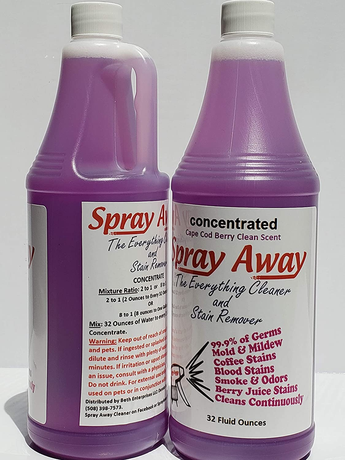 Spray Away Cleaner Concentrate 32oz in the Cape Cod Berry Clean Scent