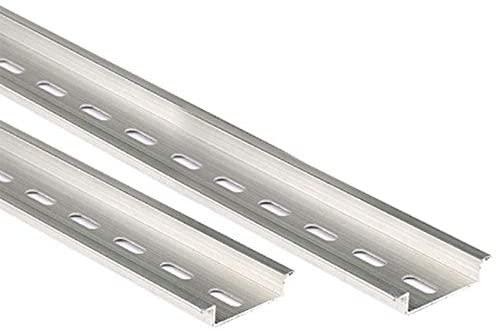 Terminals 5pcs Universal Type 35mm 0.5 Meter Aluminum Slotted DIN Rail for C45 DZ47 Terminal Blocks Contactor Etc