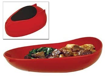 Scooper Dish Redware With Non-Skid Base 6 x 7.5 x 1.75 by Aids to Daily Living