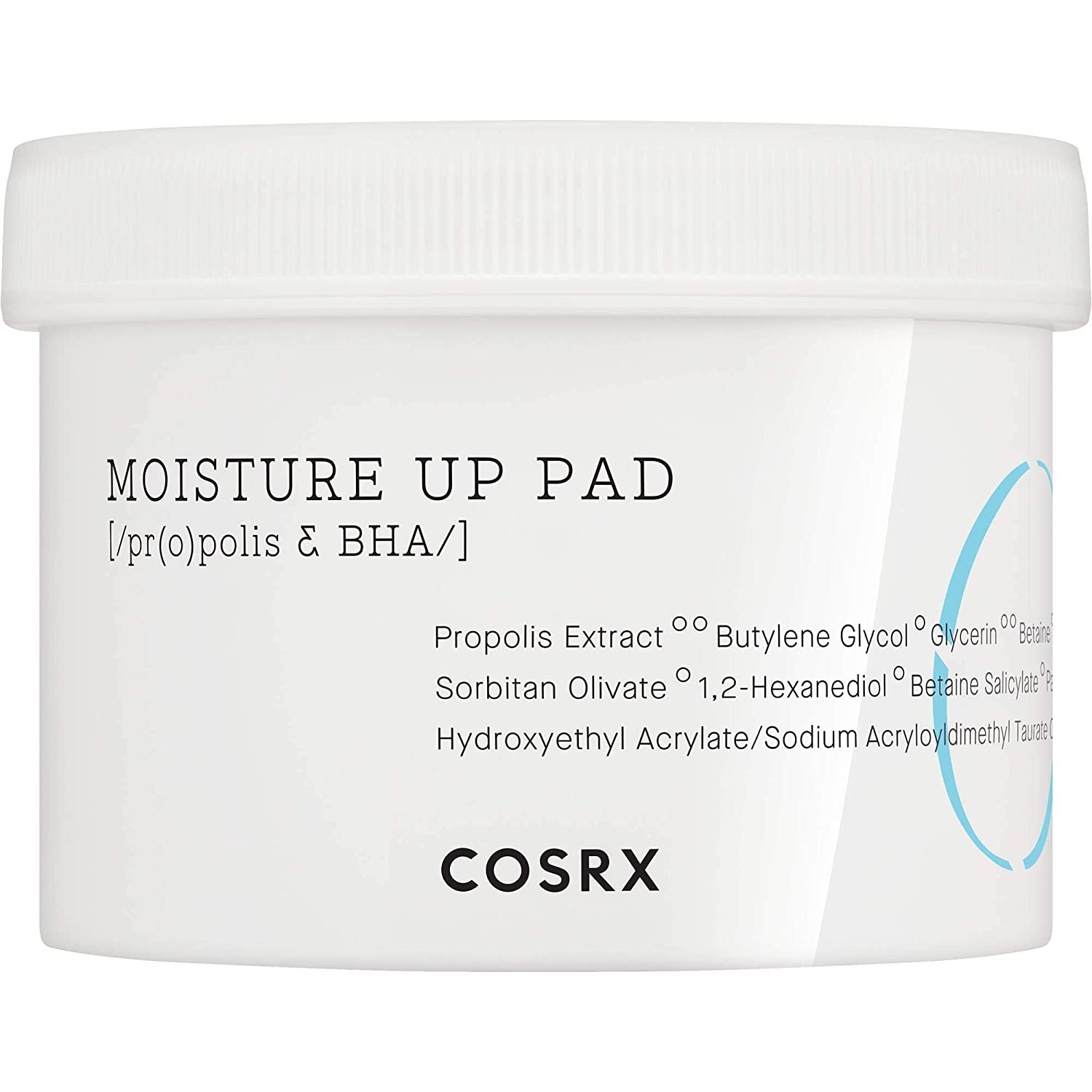 COSRX One Step Moisture Up Pad, 70 Pads | Propolis Extract Toner-Soaked | Exfoliating and Cleansing Pad (New Design)