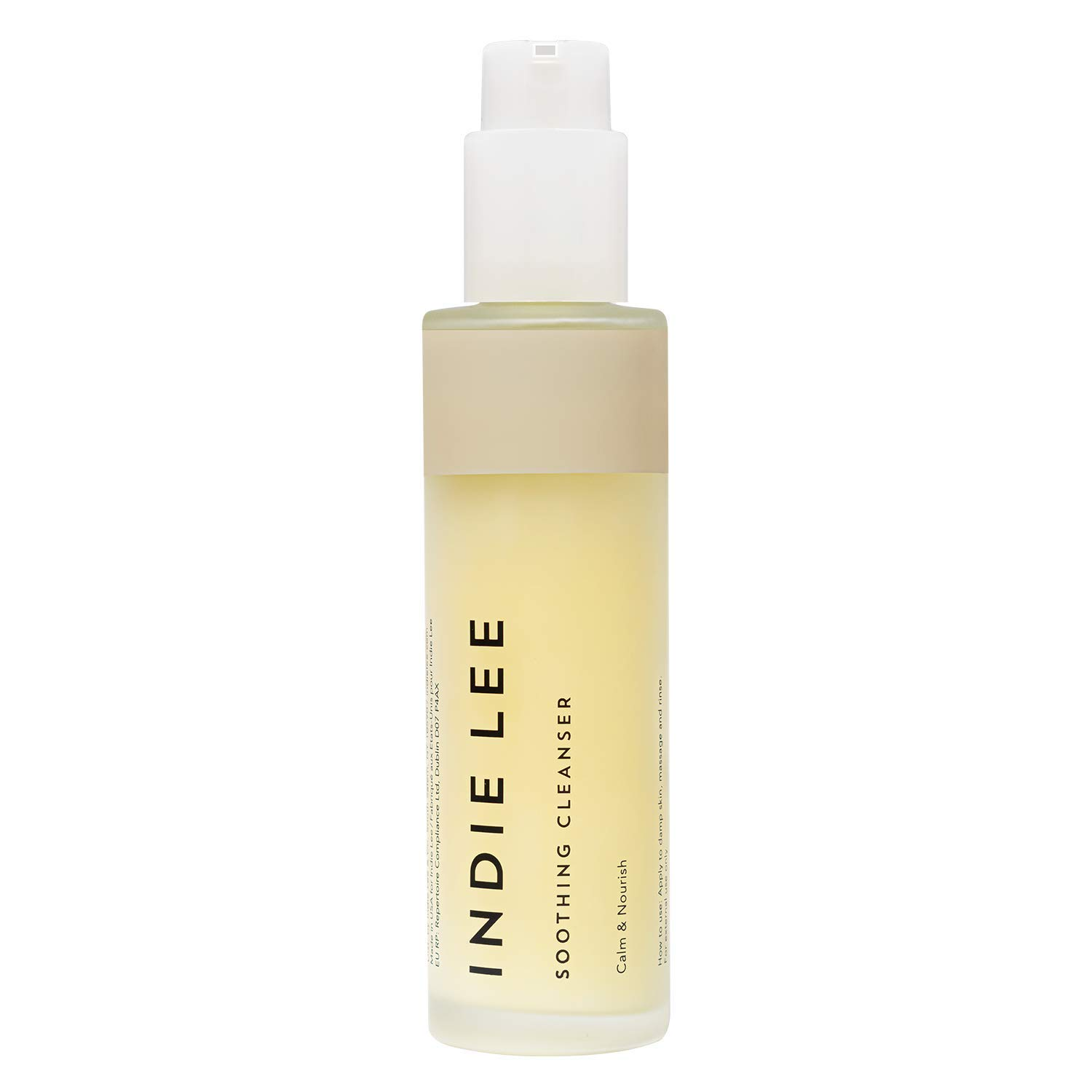 Indie Lee Soothing Cleanser - Gentle Moisturizing Face Wash with Rose Damascena Oil to Help Plump, Hydrate + Calm Redness - Great for Sensitive Skin + All Complexion Types (4.2oz / 125ml)