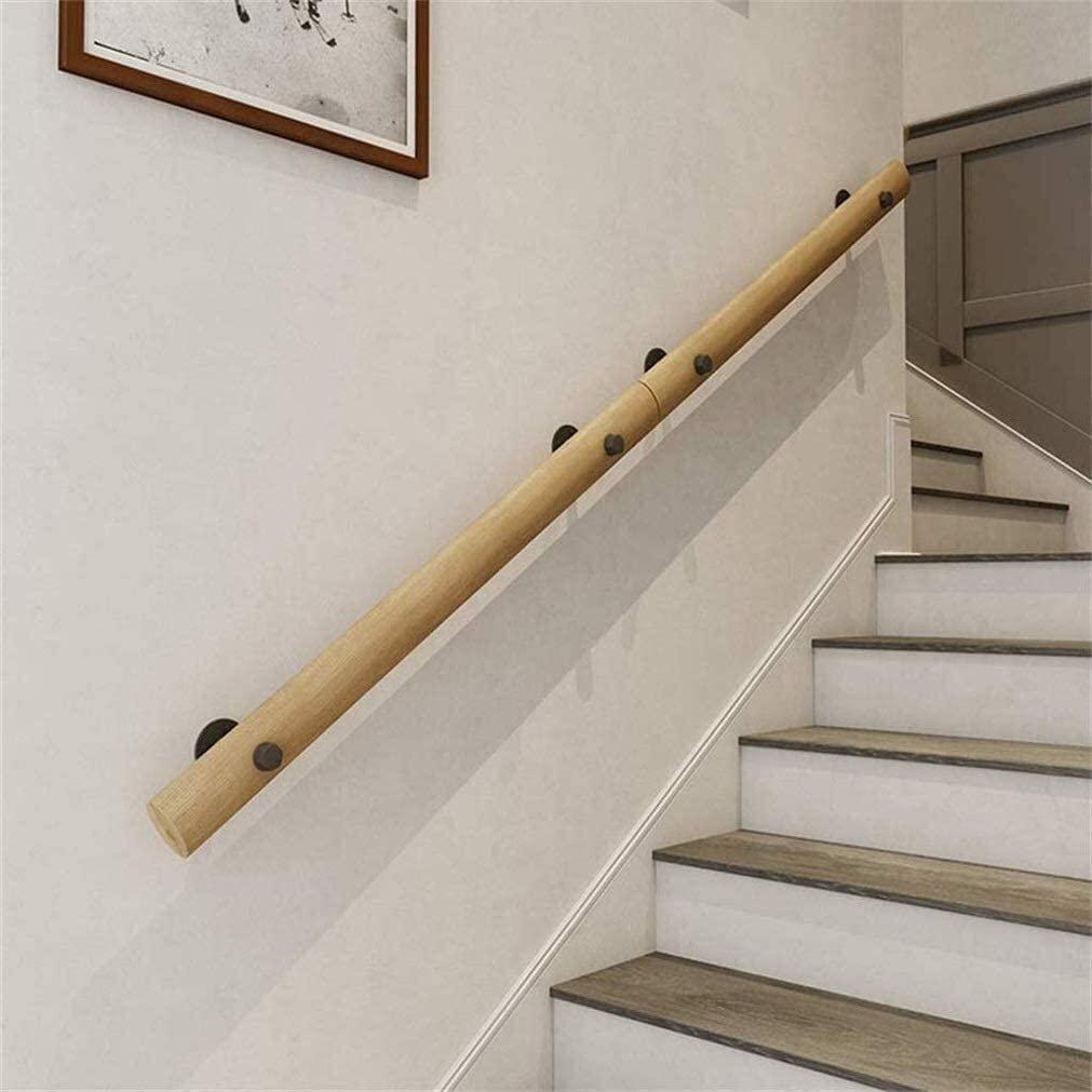 Outdoor Indoor Non-Slip Wood Stair Handrail, Old Man Indoor Villa Loft Handrails 0730 (Size : 15ft/450cm)