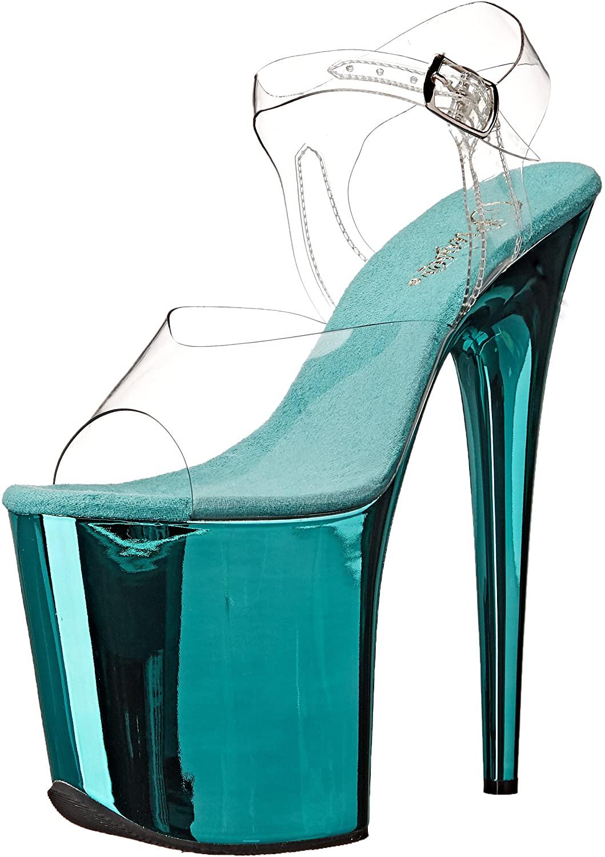 Pleaser Womens FLAM808/C/TECH Platform dress Sandal
