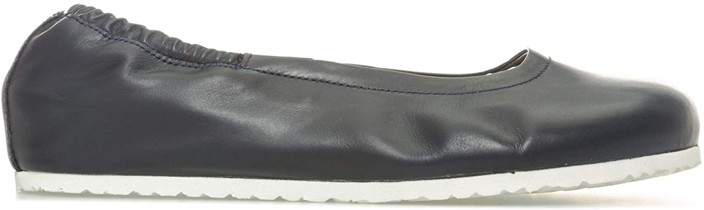 BIRKENSTOCK Women's Celina Leather Ballerina Shoes150; Regular Width UK 5.5 Blue