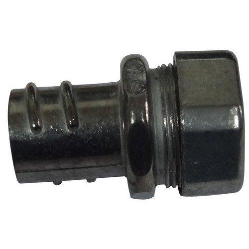 Morris 15422 EMT to Flex Combination Compression Coupling, Zinc Die Cast, 1 Thread Size