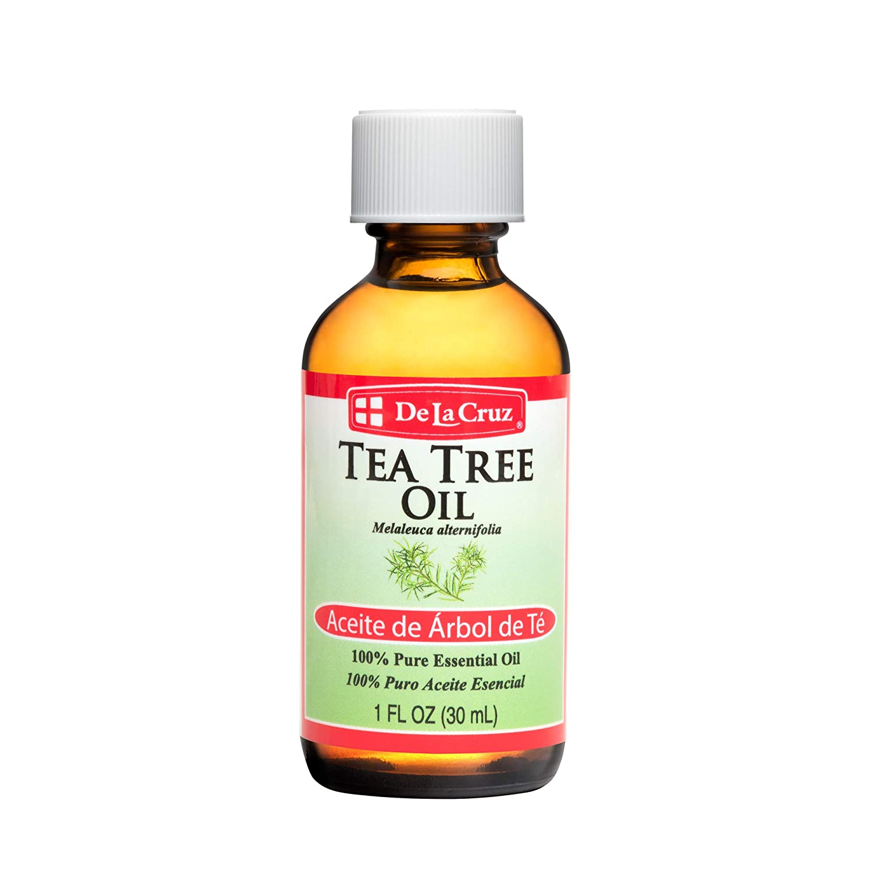 De La Cruz Australian Tea Tree Essential Oil, 100% Pure, Steam-Distilled, Bottled in USA 1 FL OZ. (1 Bottle)