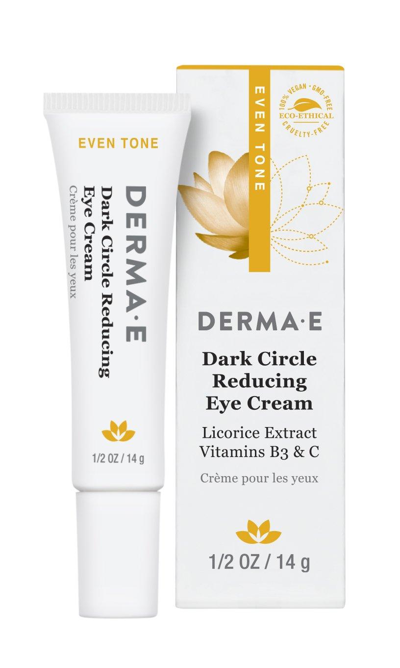 DERMA E Dark Circle Reducing Eye Cream, 0.5 oz, Pink