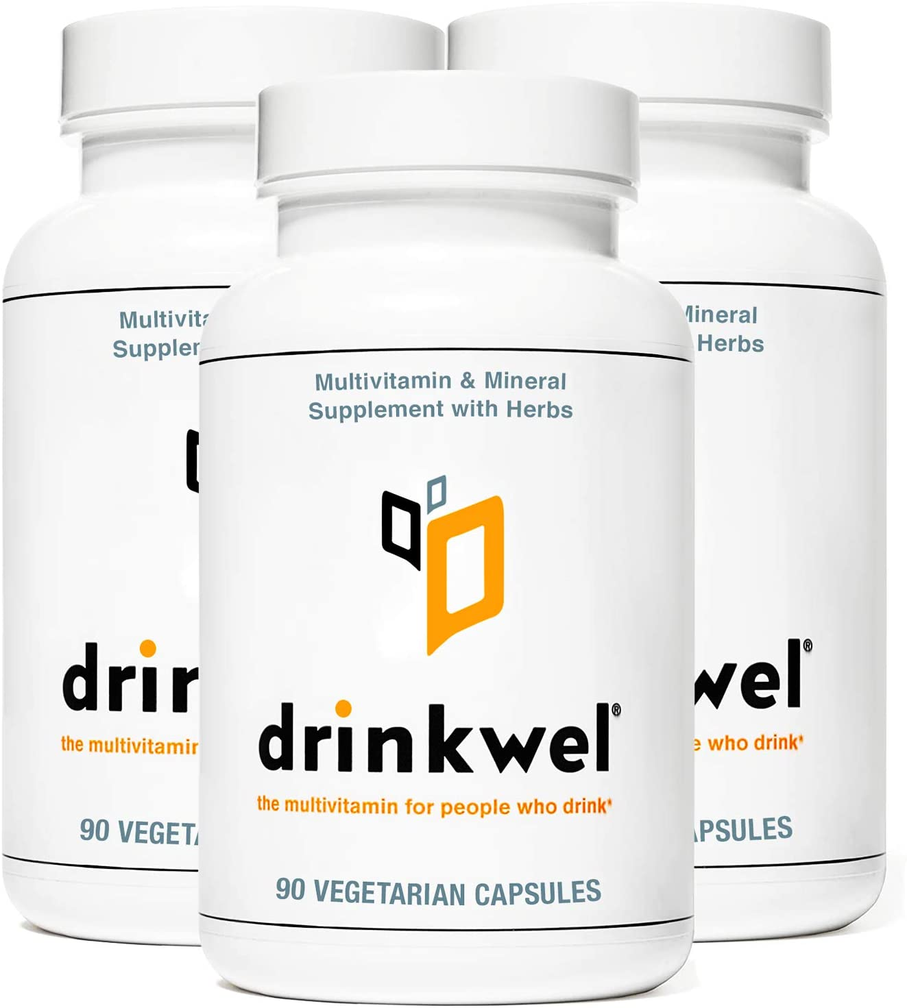 Drinkwel Premium Hangover Multivitamin Supplement - Pack of 3 x 90 Capsules - Morning Recovery, Liver Cleanse, Detox, Immune Support- Milk Thistle, N-Acetyl Cysteine (NAC), Vitamin C, Zinc, Magnesium