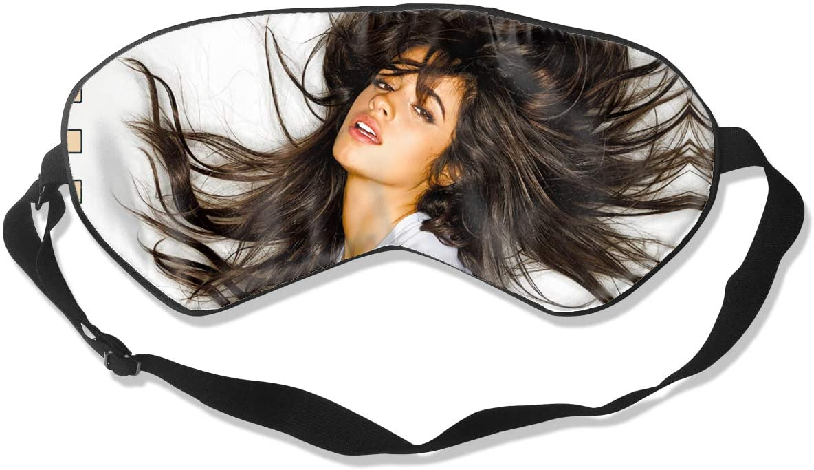 WushXiao Luanelson Camila Cabello Fashion Personalized Sleep Eye Mask Soft Comfortable with Adjustable Head Strap Light Blocking Eye Cover