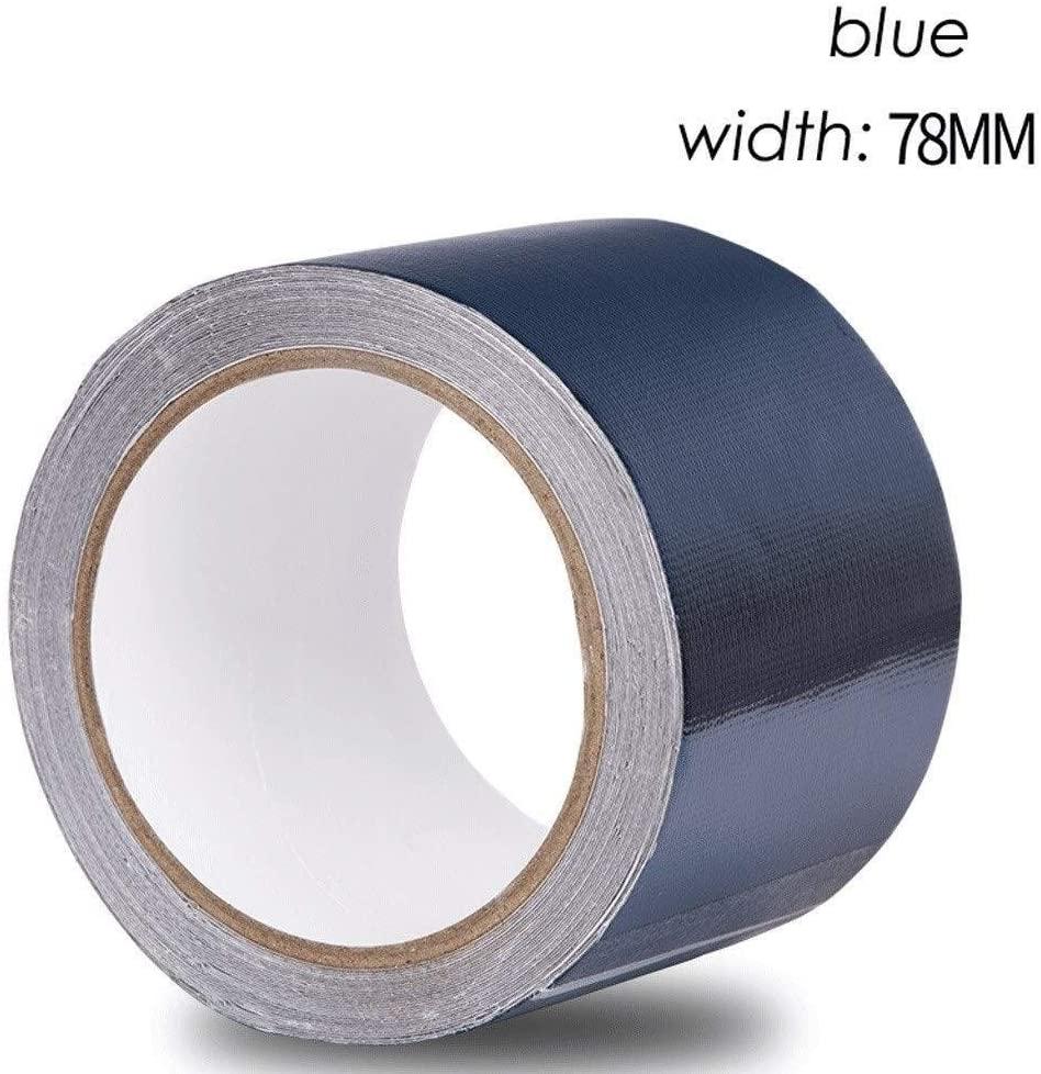 LCHH Repair Tape Waterproof Tape Pe Woven Tarpaulin Bag Tape Plastic Sunscreen Tarpaulin for Canvas Tarpaulin 0307 (Color : Dark Blue, Size : 78 mm Wide x 8 m Long)