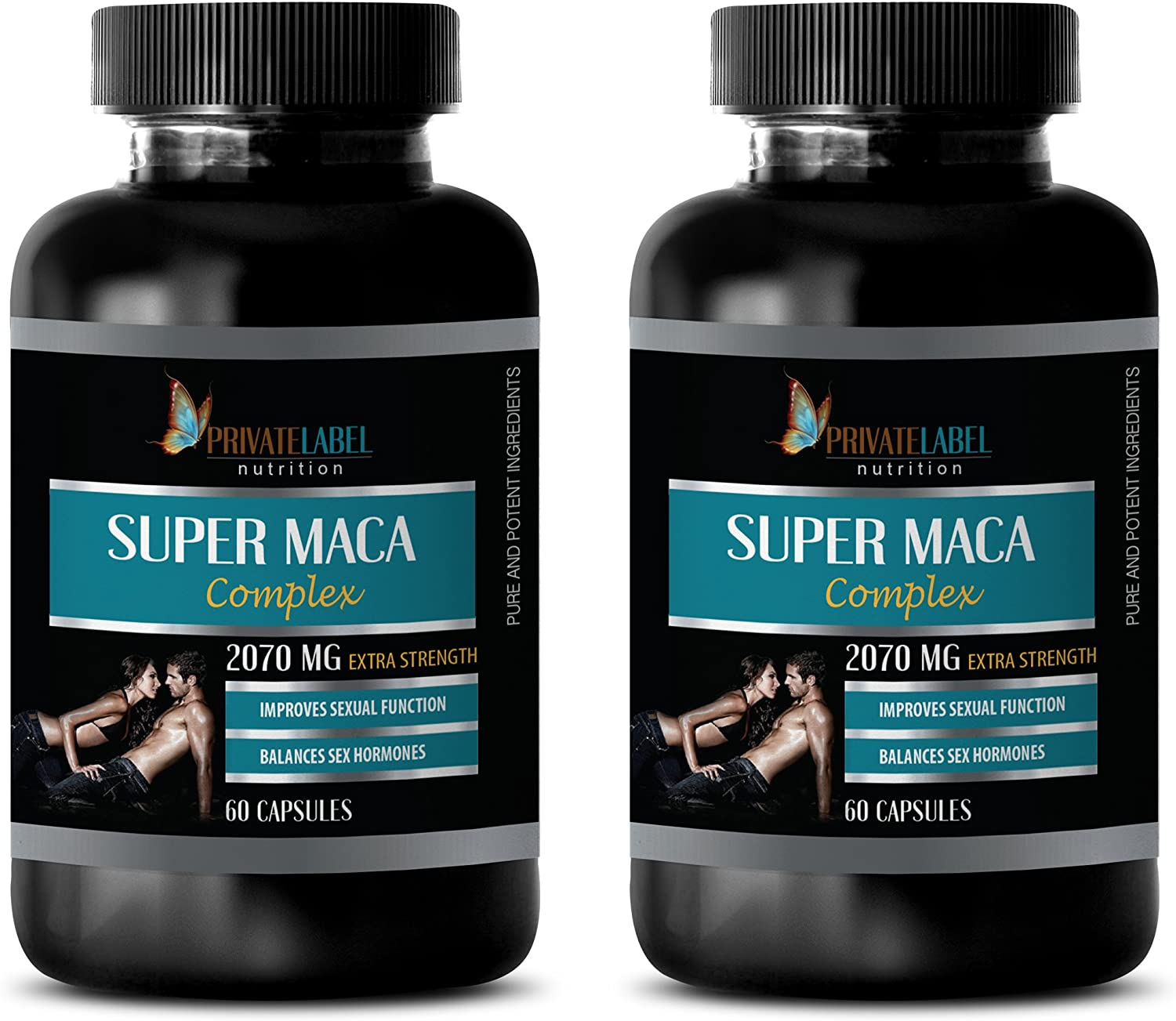 Male Enhancing Pills yohimbe - Super MACA Complex - Improves Sexual Function - Horny Goat Weed for Men Sex Drive - 2 Bottles 120 Capsules