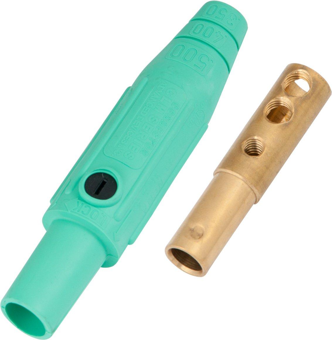 Marinco CLM2F-E CLM Cam Type, Series 15 Mini Inline, Single Pin Connector, 150 Amp, 600 Volt, #8 - #2 AWG, Female - Green (E)