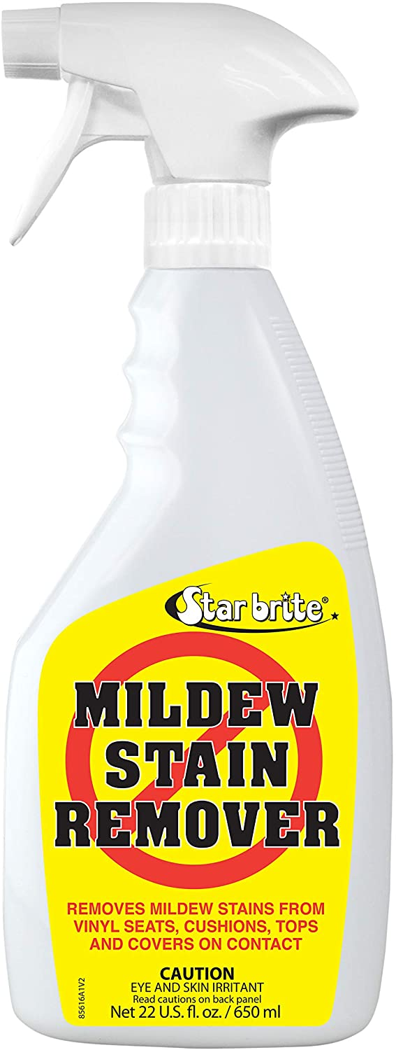 STAR BRITE Mold & Mildew Stain Remover + Surface Cleaner with BUFFERED-BLEACH TECHNOLOGY – Lifts Dirt & Removes Mildew Stains on Contact - 22 Oz Spray (085616)