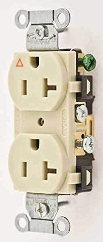 IG20CRI 20A Duplex Receptacle 125VAC 5-20R IV HUBBELL WIRING DEVICE-KELLEMS