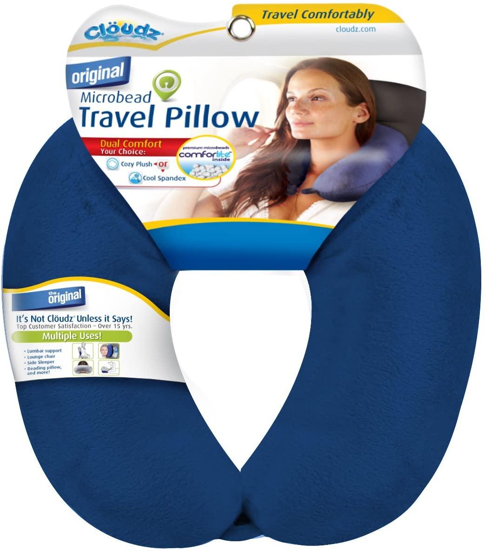 Cloudz Microbead Travel Neck Pillow - Blue