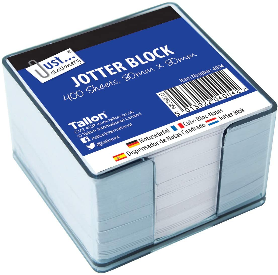 Just Stationery 400 Sheet Jotter Block in