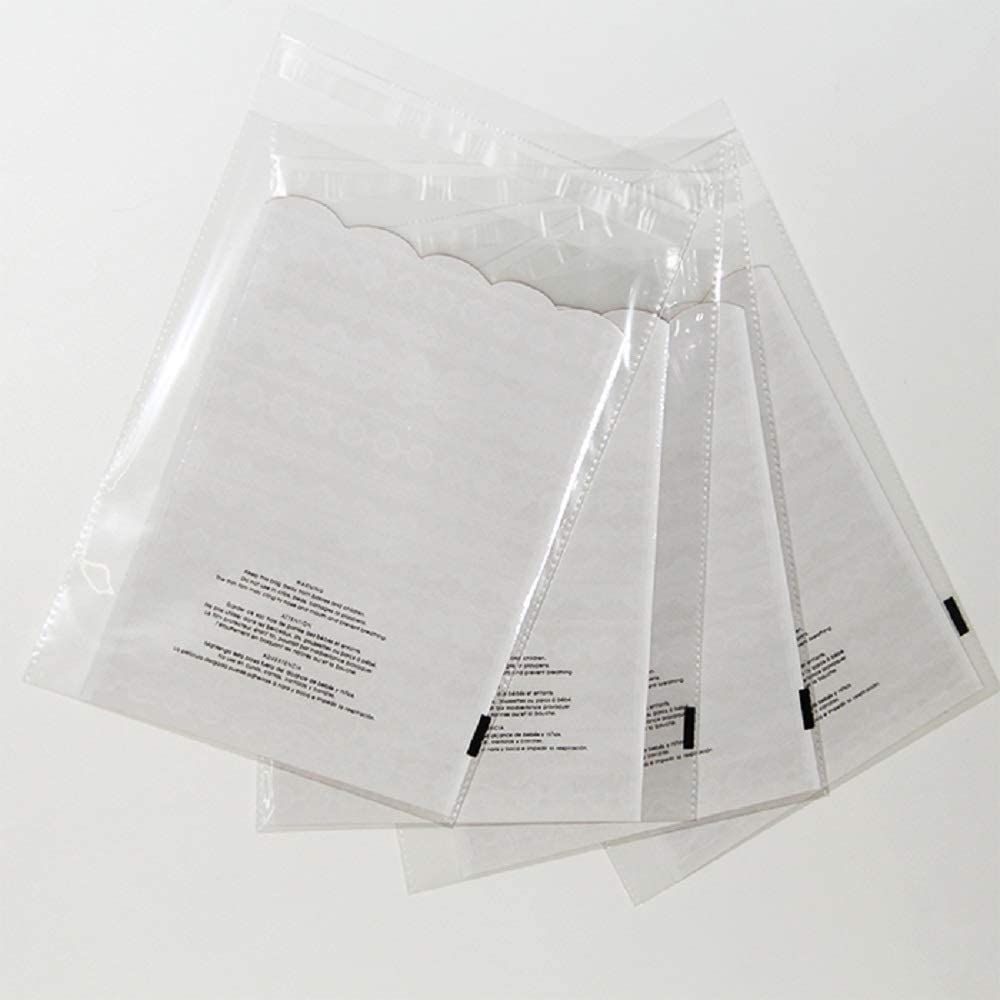 ValueMailers Poly Bags - 2000 (Pack) - 1.5 mil Poly Bags with Suffocation Warning - 9x12 - Cello OPP Self-Sealing (9x12)