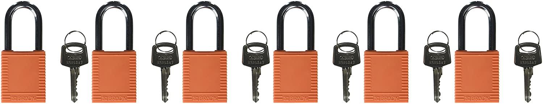 Brady 123270 Lockout Padlock, Keyed Alike, 1/4