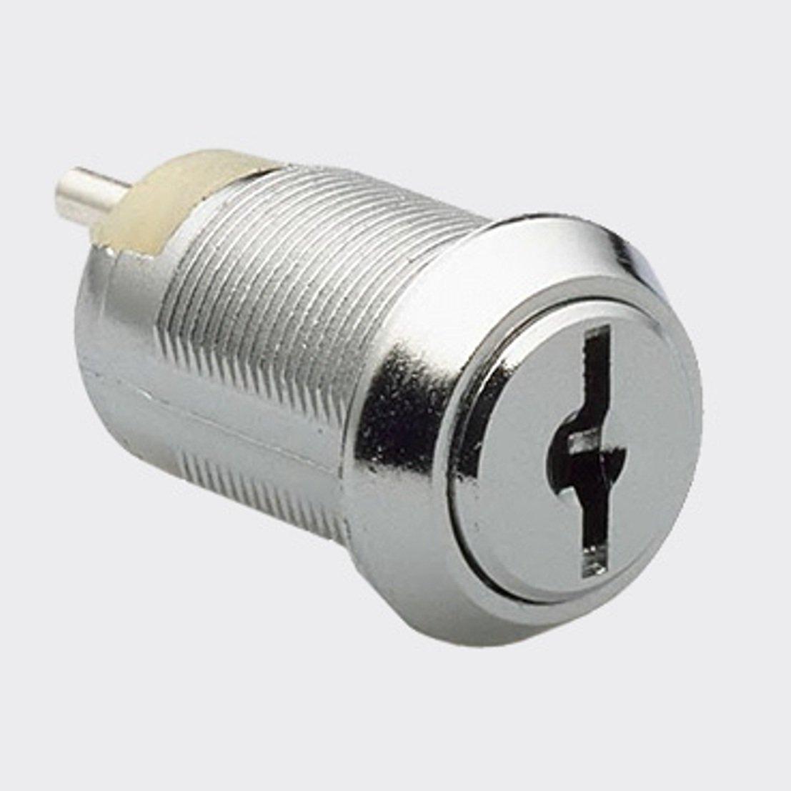 2-Position Key Switch, Keyed Alike, Key Removable in Off Position, 2 Keys, nut, Bezel