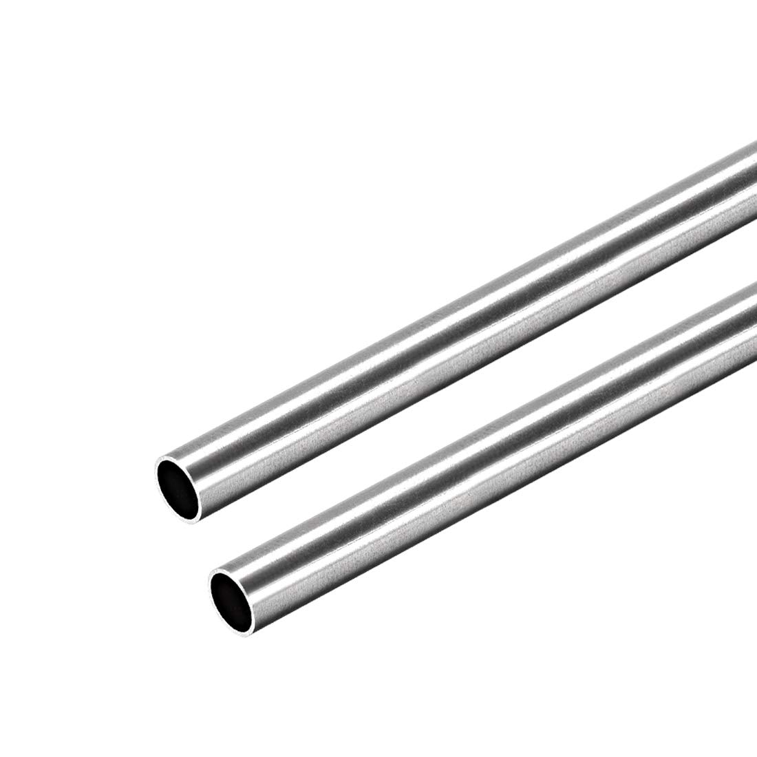 uxcell 304 Stainless Steel Round Tubing 6mm OD 0.4mm Wall Thickness 250mm Length Seamless Straight Pipe Tube 2 Pcs