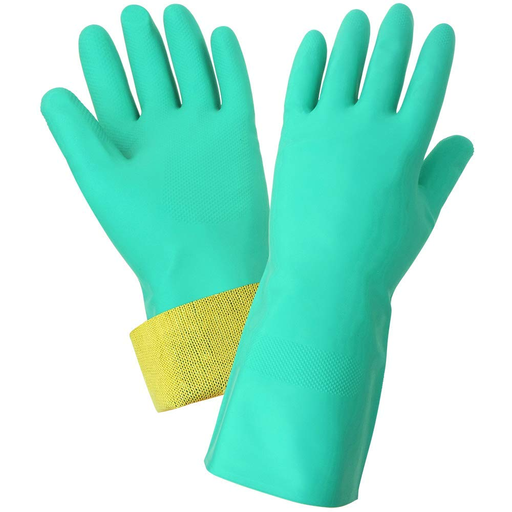 Global Glove 515KEV Unsupported Nitrile Glove with Kevlar Liner, Cut Resistant, 8-Medium (Case of 72)