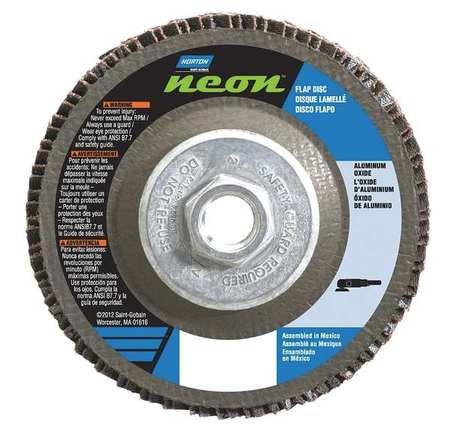 10/PK Norton Gemini R766 5 in x 5/8-11 in 40 Grit Type 27 Flap Disc Fiberglass Aluminum Oxide // 66623399208