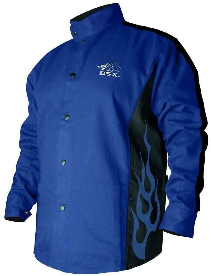 Black Stallion Part BXRB9C BSX Contoured FR Cotton Welding Jacket Royal Blue 4X-LG