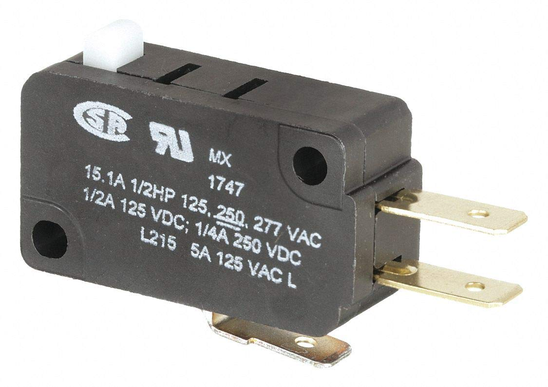 Mini Basic Snap Action Switch Pin Plunger SPDT 15A 250VAC