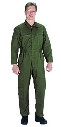 TOPPS SAFETY CO43-0672-Tall/56 CO43-0672 Poly/Cotton Tactical Lightweight Wear Unlined Coverall, Tall/Size 56, Olive