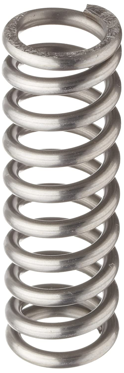 Music Wire Compression Spring, Steel, Inch, 0.72 OD, 0.105 Wire Size, 2.84 Compressed Length, 4 Free Length, 58.6 lbs Load Capacity, 50.5 lbs/in Spring Rate (Pack of 10)
