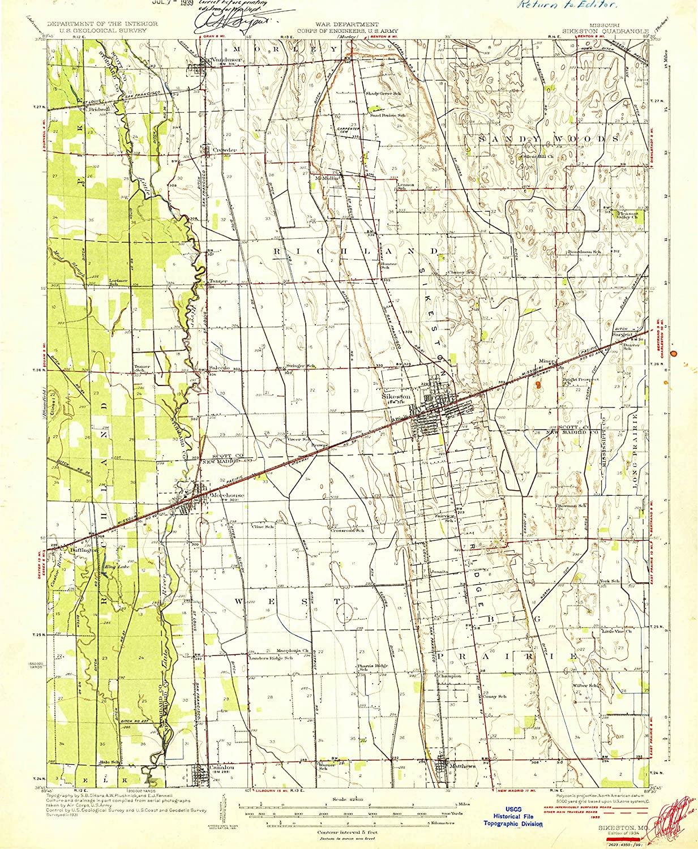 Map Print - Sikeston, Missouri (1931), 1:62500 Scale - 24