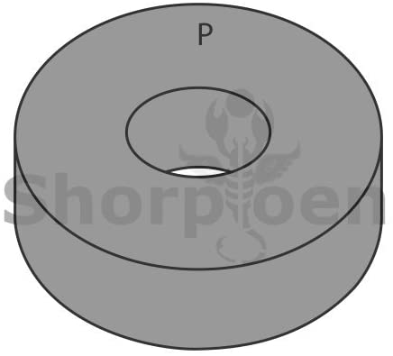 3/4 Thru Hardened U S S Washer Plain Steel Made in USA - Box Quantity 400 by Shorpioen BC-75WUSSTHP