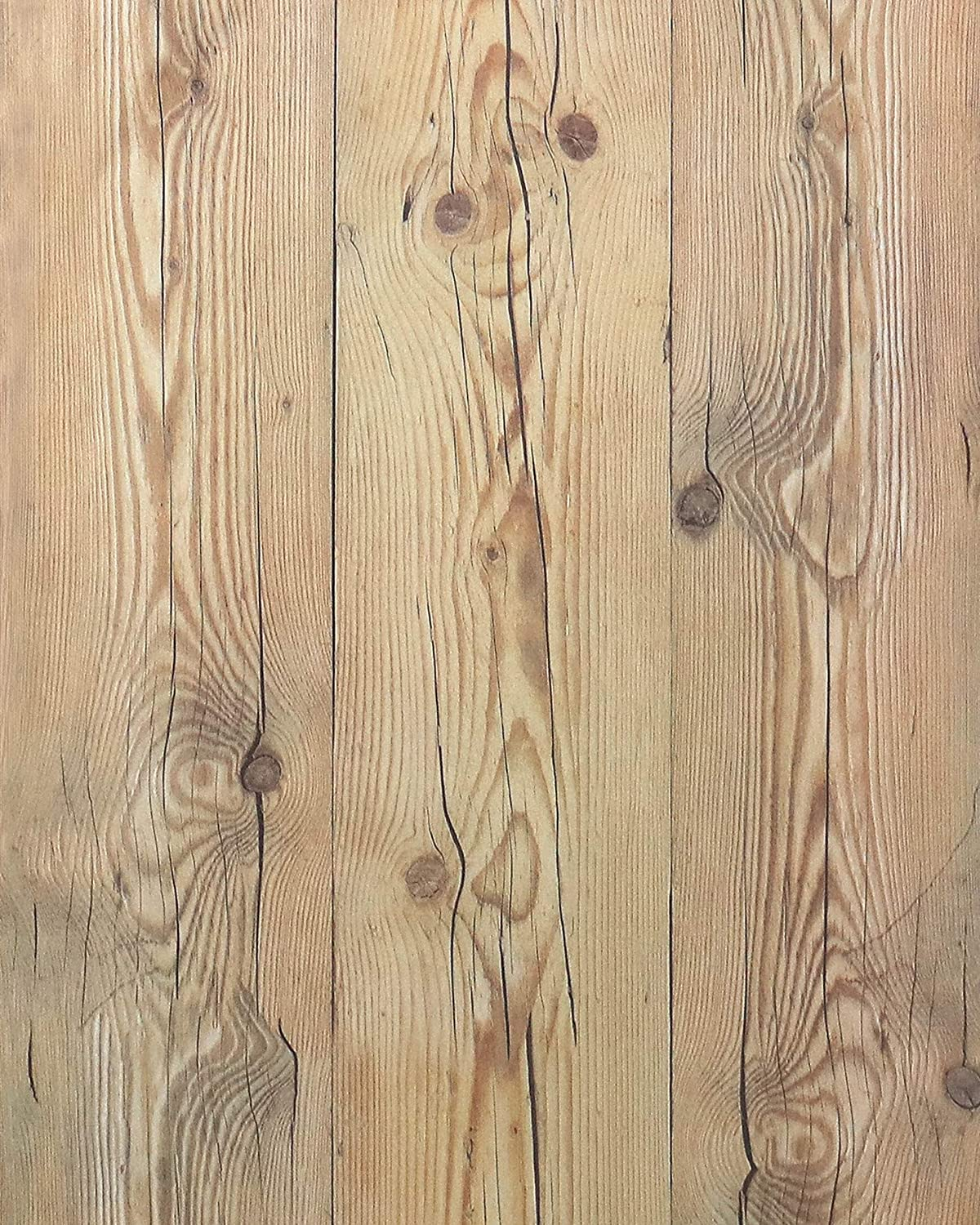 """Weathered Wood Wallpaper Stick and Peel Wood Con-Paper Wood Plank Wallpaper Self Adhesive Wallpaper Removable Wallpaper Wood Look Wallpaper Rustic Reclaimed Distressed Wood Wallpaper 78.7""""x17.7"""""""