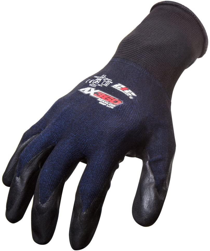 212 Performance Gloves AXGLT-05-010 AX360 Grip Lite Nitrile-dipped Work Glove, 12-Pair Bulk Pack, Large