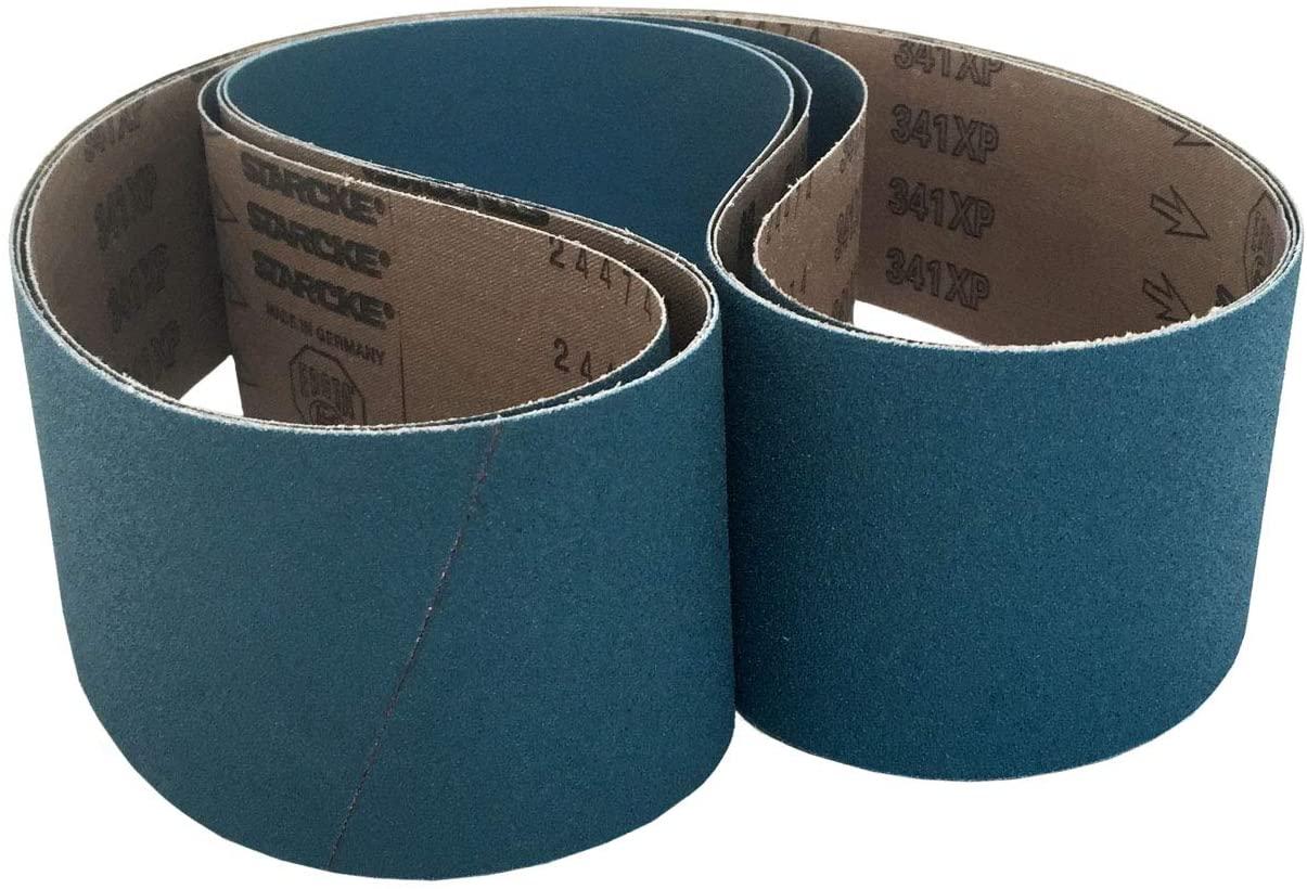 Sanding Belts 4 X 54 Zirconia Cloth Sander Belts (3 Pack, 50 Grit)