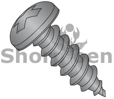 10-12X2 Phillips Pan Self Tapping Screw Type A Fully Threaded Black Oxide - Box Quantity 1500 by Shorpioen BC-1032APPB