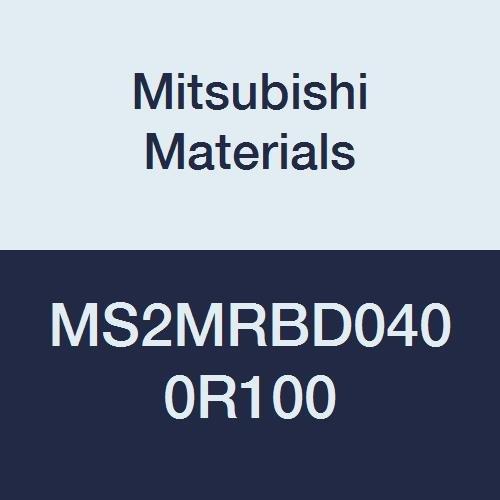 Mitsubishi Materials MS2MRBD0400R100 Series MS2MRB Carbide Mstar Corner Radius End Mill, Medium Flute, 2 Flutes, 4 mm Cutting Dia, 1 mm Corner Radius