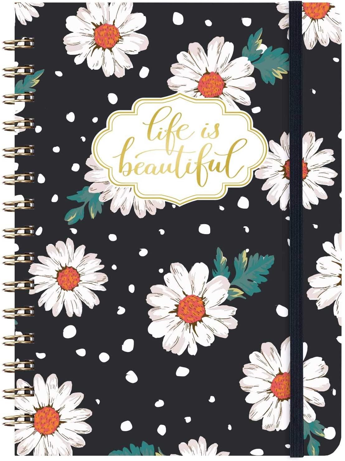 Ruled Notebook/Journal - Lined Spiral Cute Notebook Journal for Women 6.3