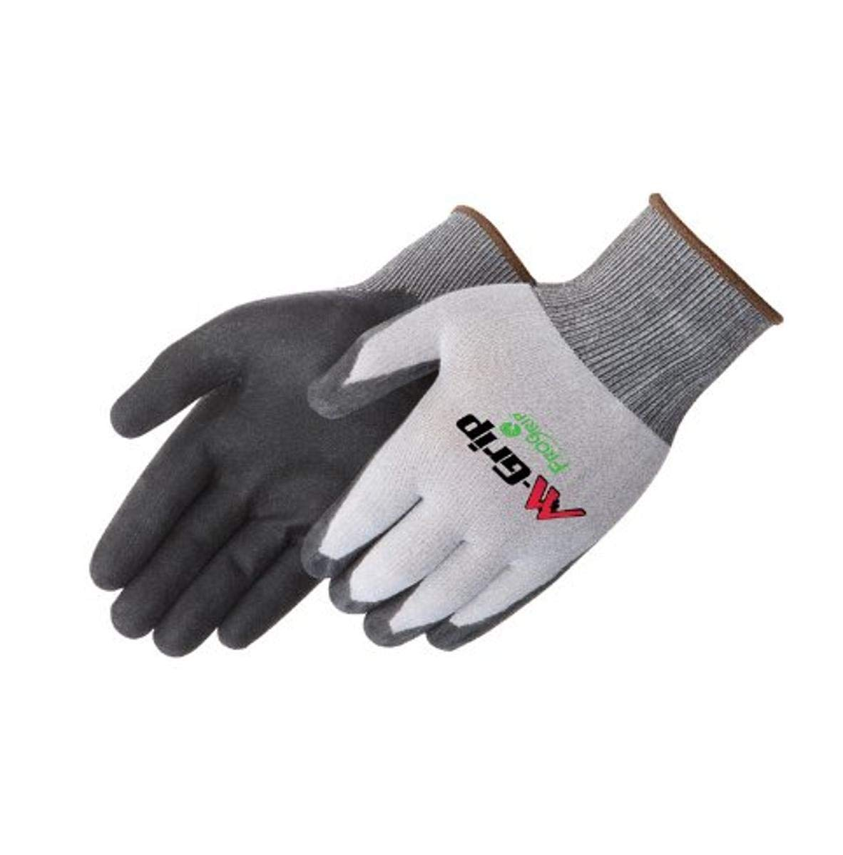 Liberty M-Grip High Density Polyurethane Palm Coated Seamless Knit Glove with 15-Gauge Nylon Shell, 2X-Large, Black (Pack of 12)